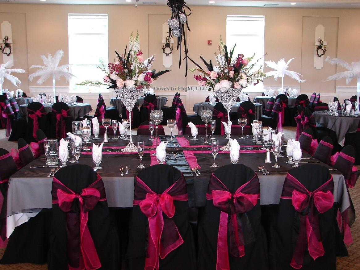 Black Red And White Wedding Decor